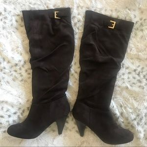 Nine West Chocolate knee high boots!